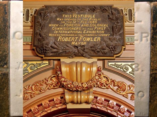 Vestibule plaque