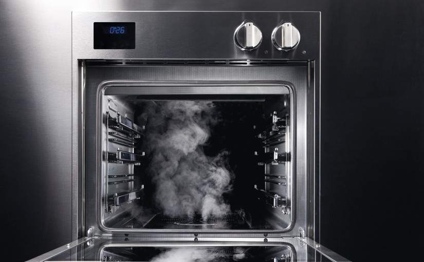 steel oven with steam cooking options