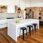 contemporary kitchen with timber flooring