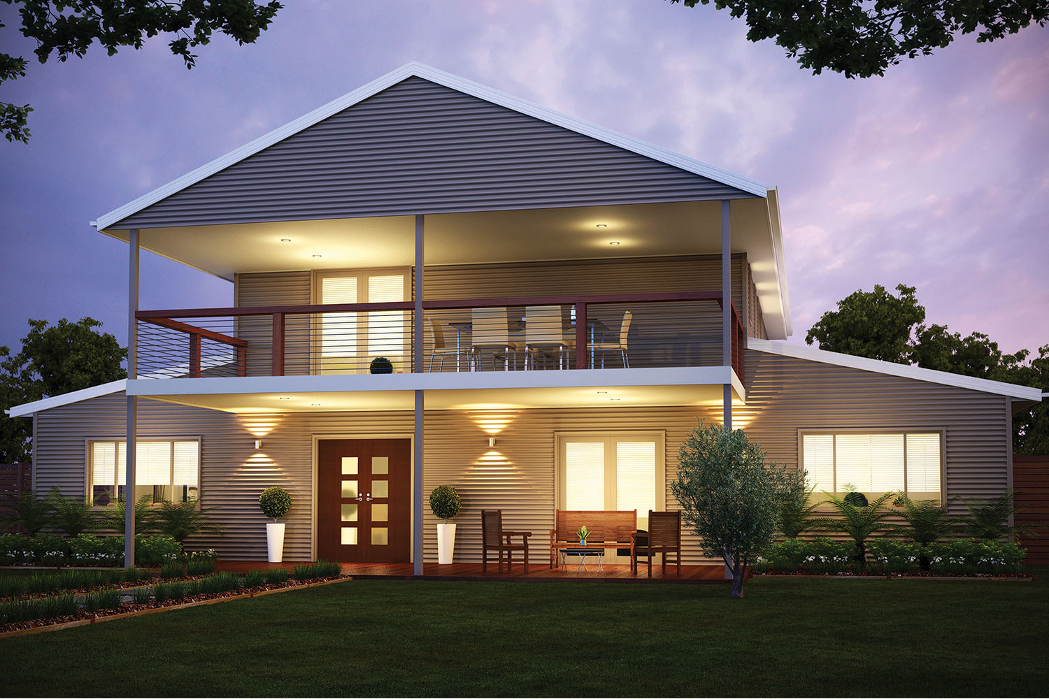 Build your own stylish steel kit homes completehome for Design your own metal building home