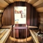 In the hot seat: Ukko's cedar barrel sauna