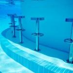 Stainless steel underwater pool bar stools
