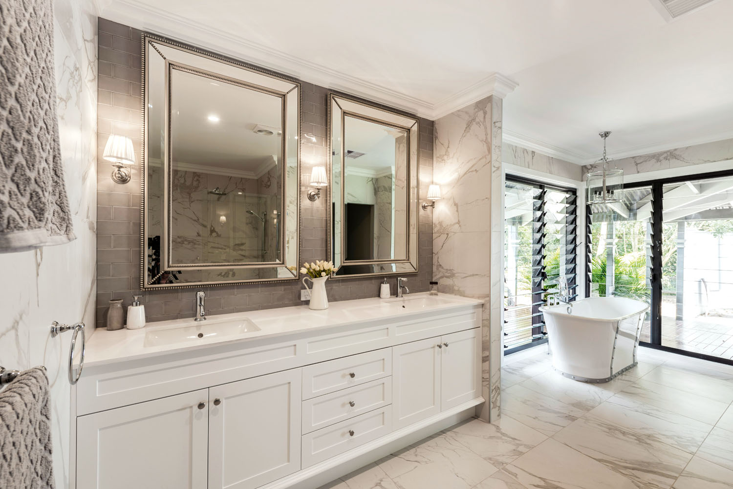 bath and kitchen cabinets hamptons style ensuite completehome 4336