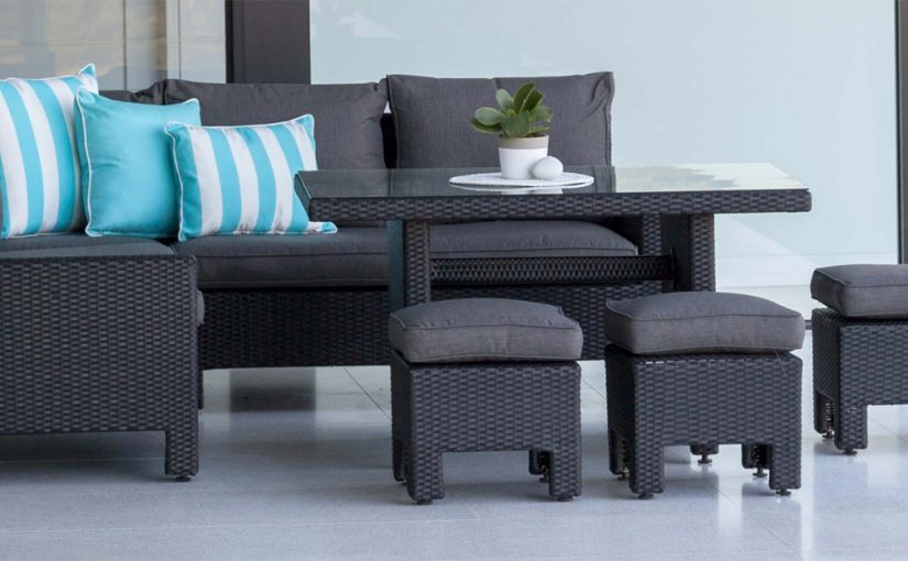 Black wicker: get inspired by these outdoor living ideas - Emporium casual dining setting