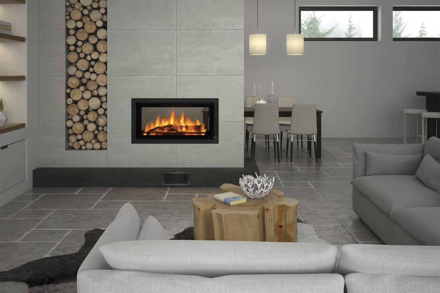 Double Sided Fireplaces Two Sides Endless Benefits