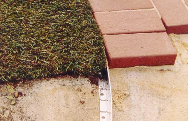 Garden edging low link edge product ods for Soft landscape materials