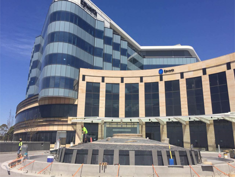Royal adelaide hospital courtyards project ods for Courtyard landscaping adelaide