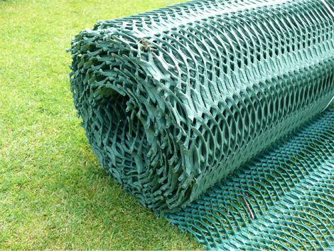 Gr14 grass reinforcement mesh product ods for Soft landscape materials
