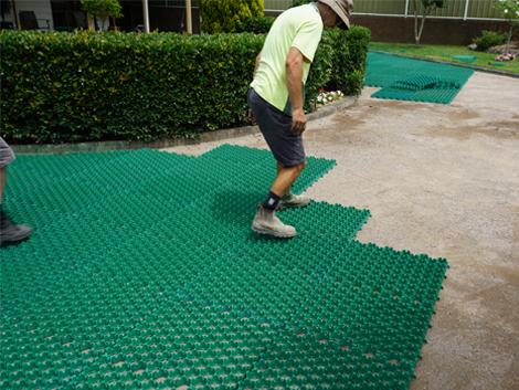 Econogrid 40 gravel driveway project ods for Soft landscape materials