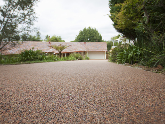 Permeable driveway at pymble project ods for Soft landscape materials
