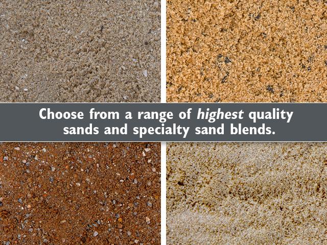 Sands product ods for Soft landscape materials