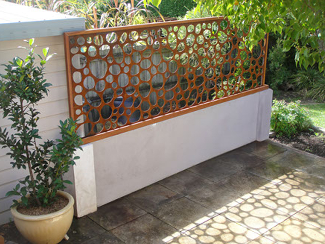 Laser cut concepts for garden screens Urban Design