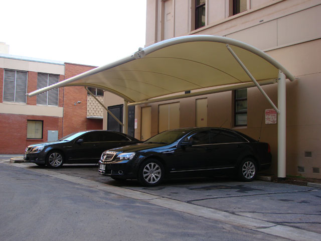 Shadeform was engaged to design manufacture and install this eyecatching Waterproof PVC Car Park Canopy ... & Waterproof Car Shade Canopy - Project | ODS