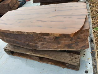 natural sawn rock pavers steps project ods