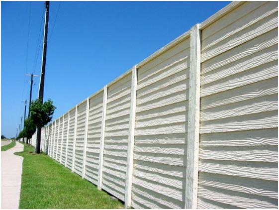 Block noise with a barrierwall modular sound panel - Exterior noise barrier materials ...