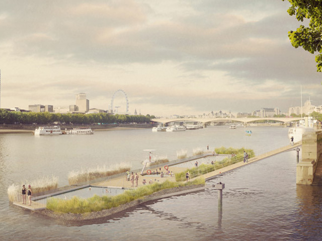 London S Floating Swimming Pool Project Ods