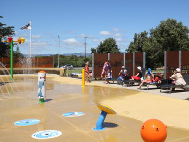 Adelaide shores water park project ods for Landscape contractors adelaide