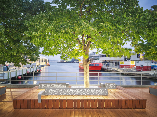 Furniture Design Hobart custom street furniture illuminates hobart waterfront - project | ods