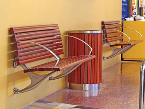 Timber And Alu Slat Seating Product Ods