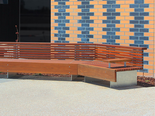 Custom seating at epping project ods for Outdoor furniture epping