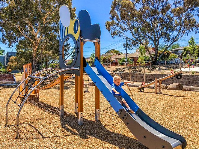 Proludic, Sheils Reserve, themed playground, slide