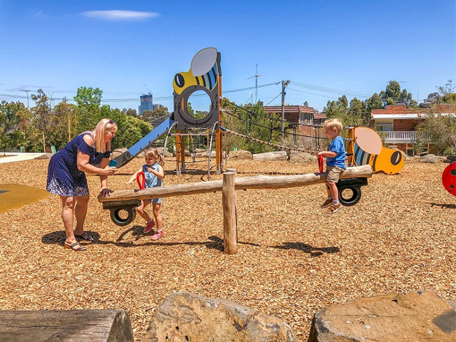 Proludic, Sheils Reserve, themed playground, seesaw