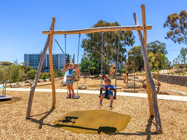 Proludic, Sheils Reserve, themed playground, swingset