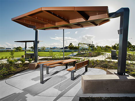 Scribbly gum park pelican waters project ods for Park chair design