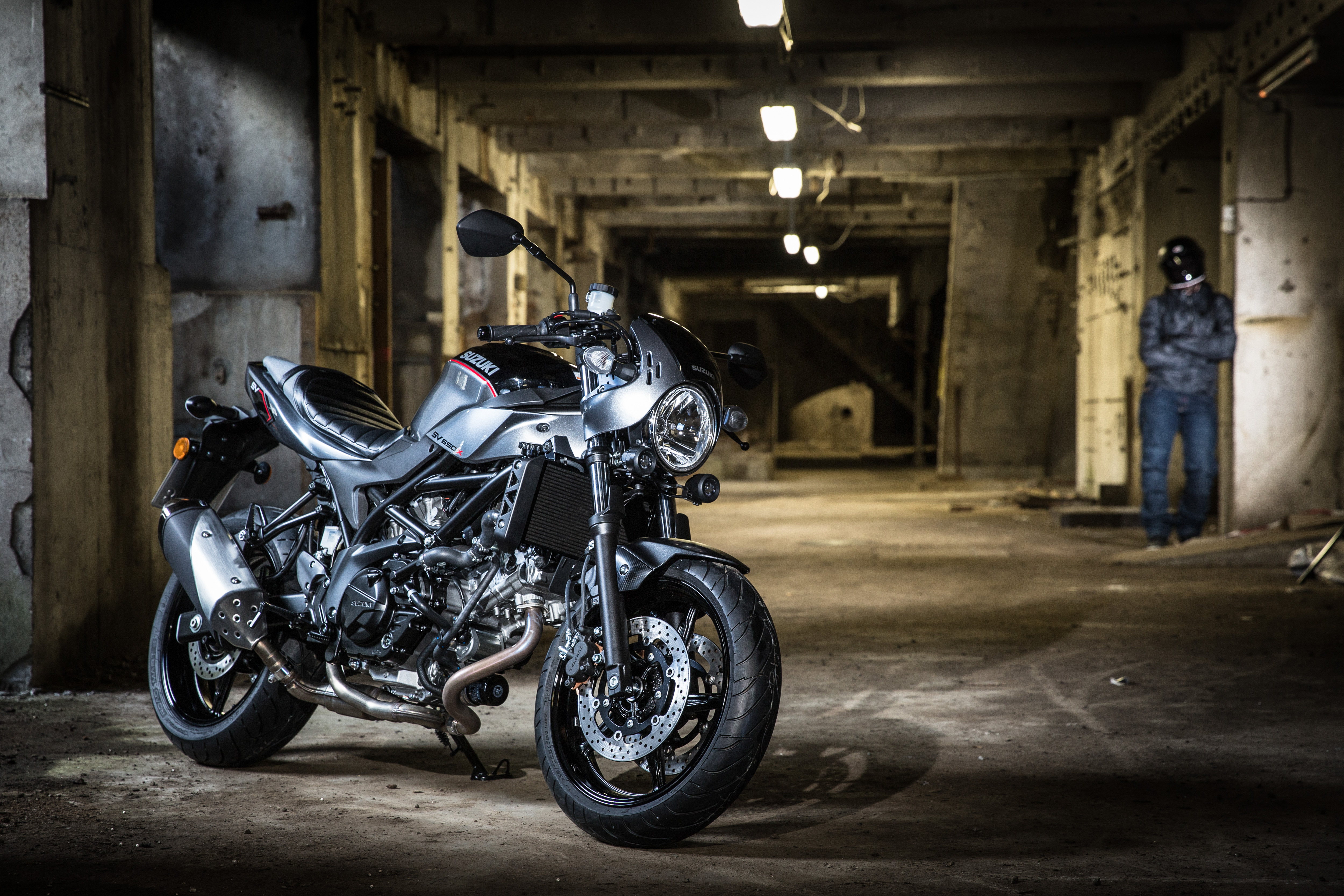 2018 Suzuki SV650X, a retro themed café racer version of its popular SV650.