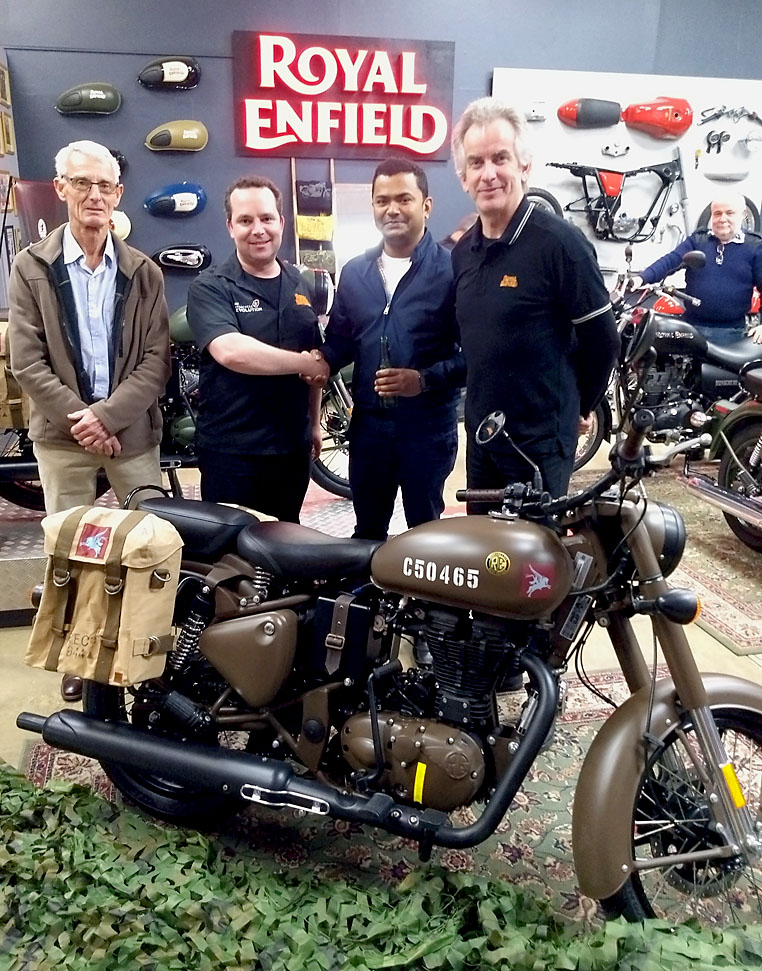 (L-R) John Wauchope, Jon Guidera, Binoj, Nigel Agar with 50465