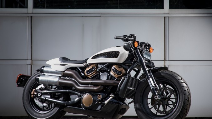 Harley-Davidson's all-new custom motorcycle with a muscular stance, aggressive, stripped down styling and 1250cc of pure performance, is planned to be released in 2021. (Prototype model shown.)