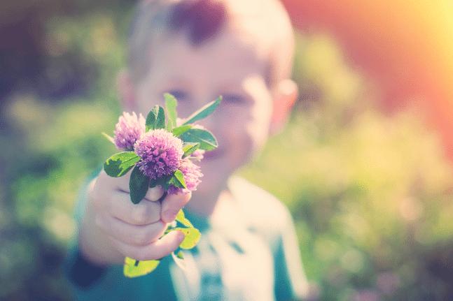 Boy flowers