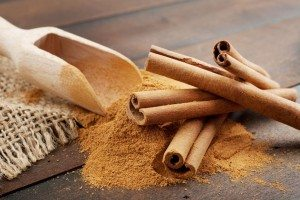cinnamon bark with powdered cinnamon