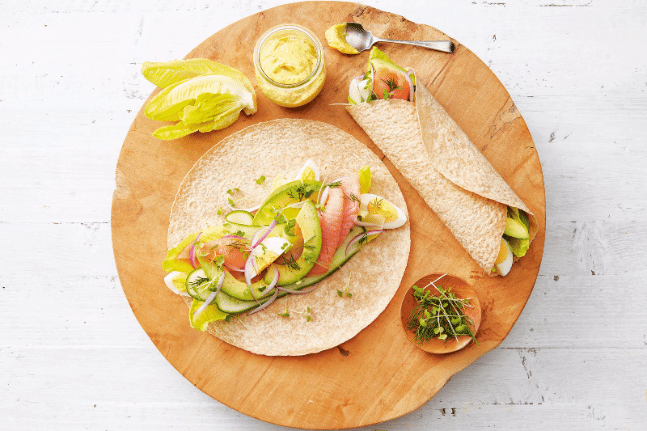 Smoked Salmon, Egg & Avocado Wrap