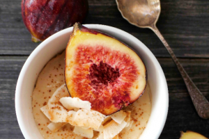 Steamed Coconut and Fig Egg Custard Recipe