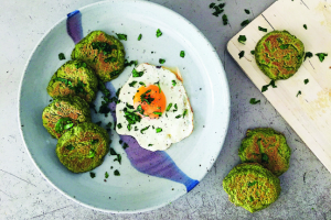 Eggs and Green Pikelets Recipe