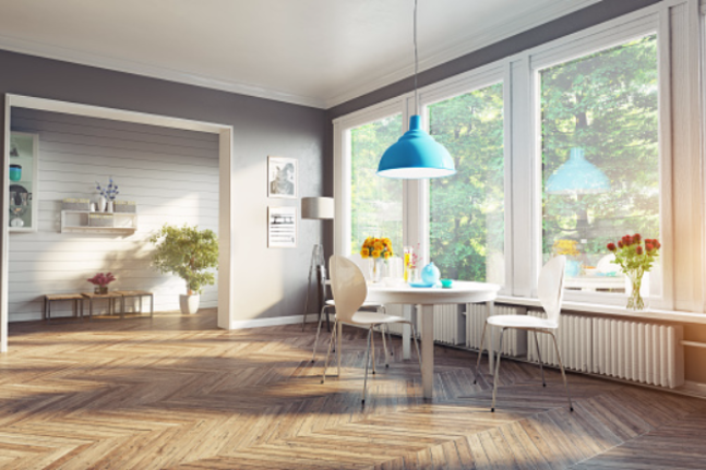 modern dining room yoga clean house happy