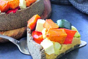 Hummus Vegie Pie Recipe