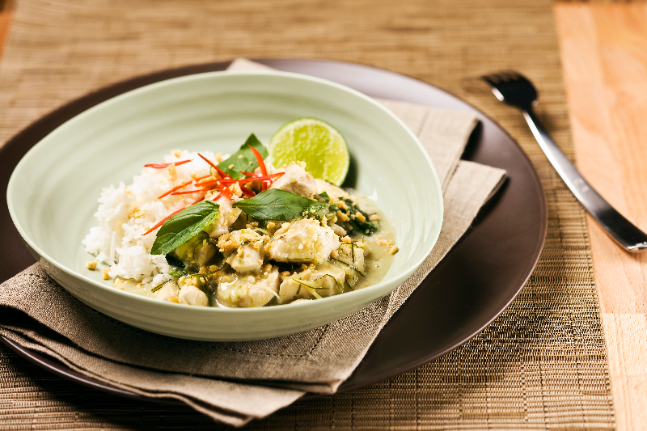 Chicken Curry with Thai Basil & Peanuts