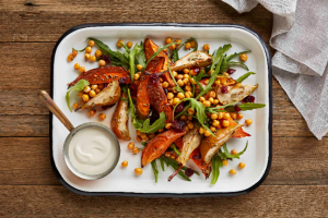 Sweet Potato & Pear Salad with Crunchy Chick Peas