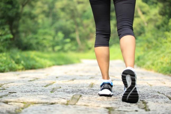 legs walking on a path