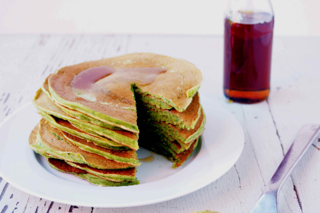 Green Smoothie Pancakes Recipe