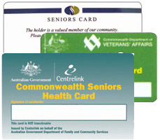 Service discounts for Pensioner and Senior card holders
