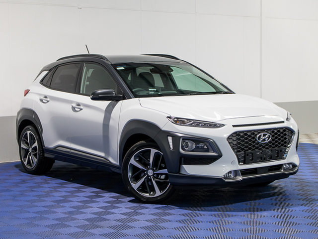 2017 Hyundai Kona Os Highlander Ttr Chalk White Dark Knight Roof