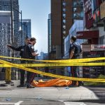 A van has mounted a kerb and struck a group of pedestrians in Toronto, Canada on Monday.