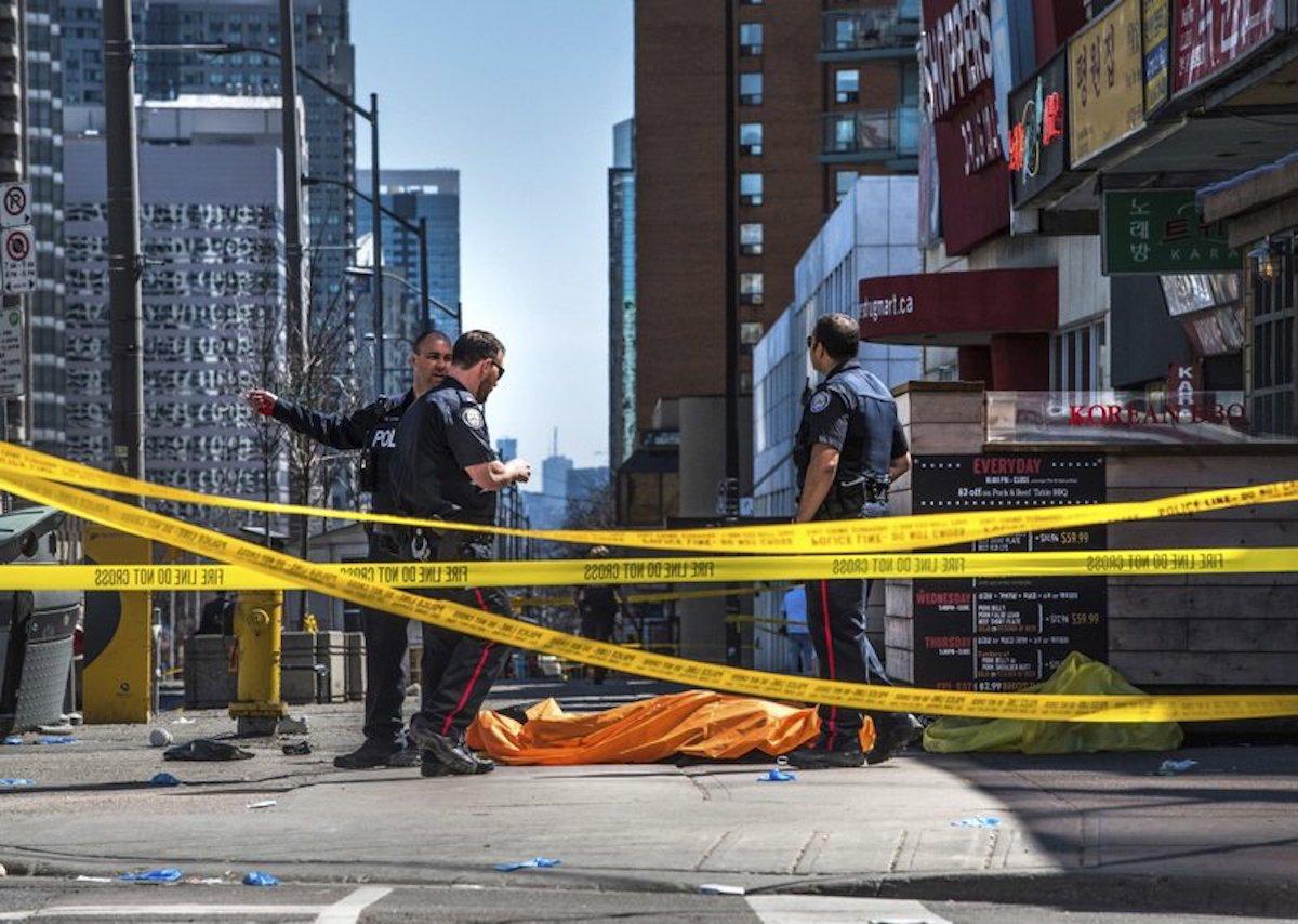 Van driver runs down Toronto pedestrians