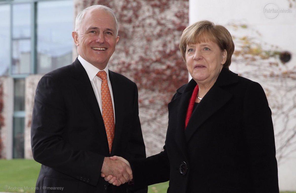 Turnbull tells Germans to follow Australia's lead on border security