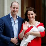 Prince William and Catherine, the Duchess of Cambridge, show off their third child — who was born on Monday.