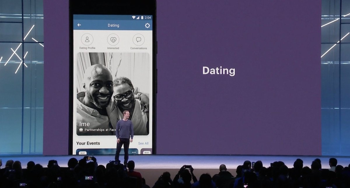Image result for zuckerberg announces moving into dating site