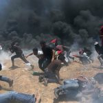 At least 58 Palestinians have reportedly been killed, and 2,700 injured after Israeli forces opened fire on protestors. @muzair261.